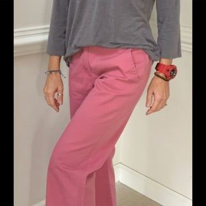 J. Crew 100% Cotton Cropped Wide Leg Chinos Size 2